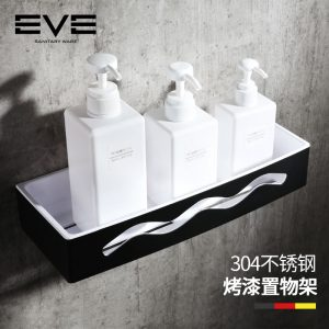 Yiweiyi 304 stainless steel toilet bathroom shelf toilet shower room rectangular double shelf
