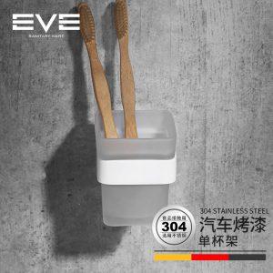 Ang Yiweiyi 304 nga stainless steel puti nga toothbrush nga tasa sa tasa sa paghugas sa tasa sa banyo sa banyo hardware pendant gibag-on nga sukaranan
