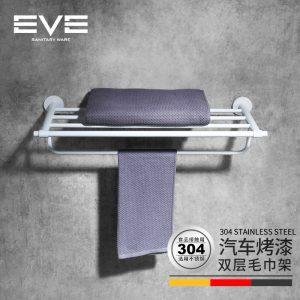 Yiweiyi 304 rozsdamentes acél dupla törülközőtartó kerek rúd rajz fürdőszoba hardver medál törölközőtartó