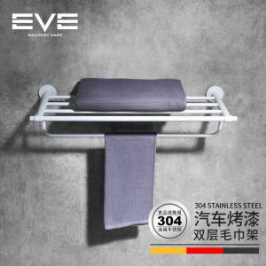 Yiweiyi 304 stainless steel rak lapis ganda lapis batang menggambar rak handuk liontin kamar mandi